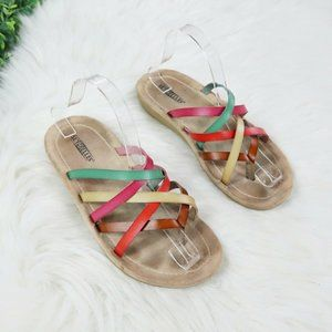 Seychelles Strappy Multicolor Leather Sandals 8.5